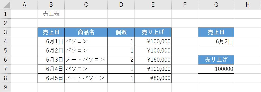 DGET関数でデータ抽出する