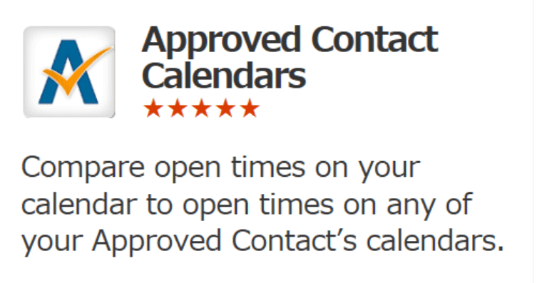 approved contact calendars