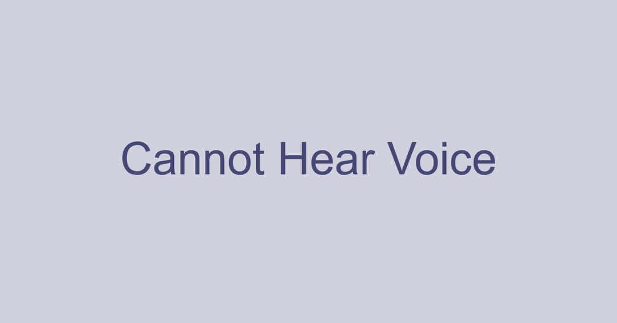 Microsoft Teamsで音声が聞こえない/出ない場合の対処法