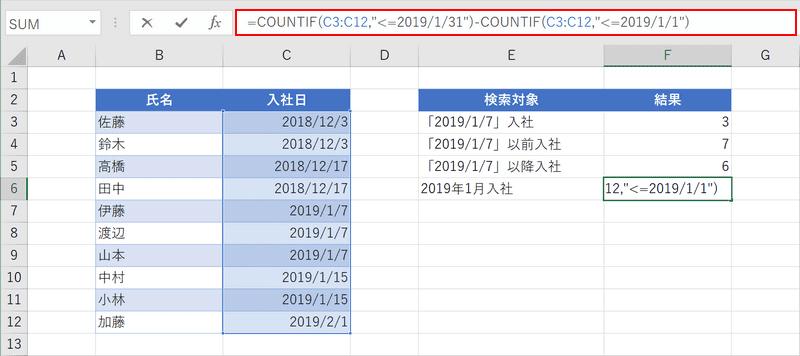 複数の条件の日付を検索