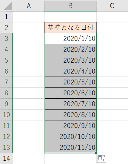 月単位の連続データ結果
