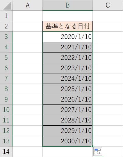 年単位の連続データ結果