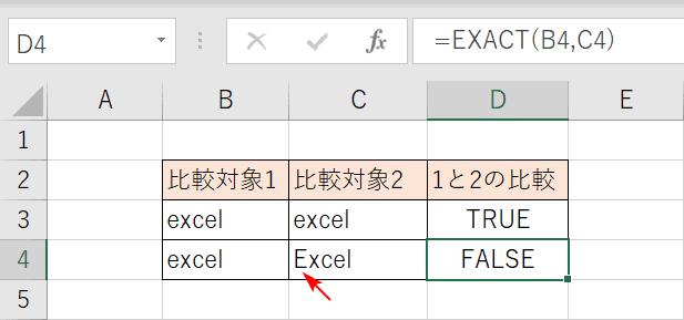 大文字と小文字の文字列比較
