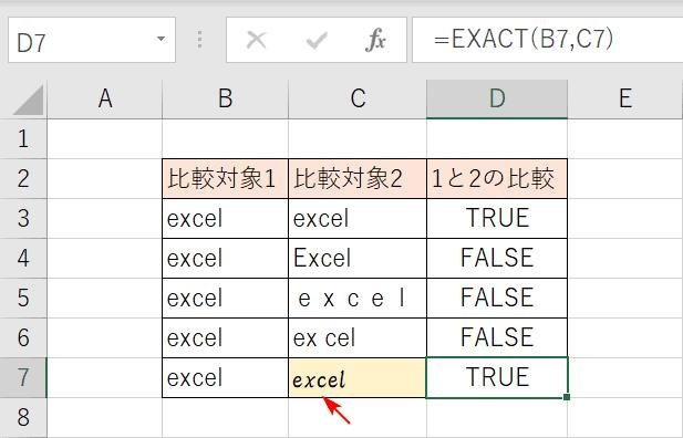 書式の有無の文字列比較