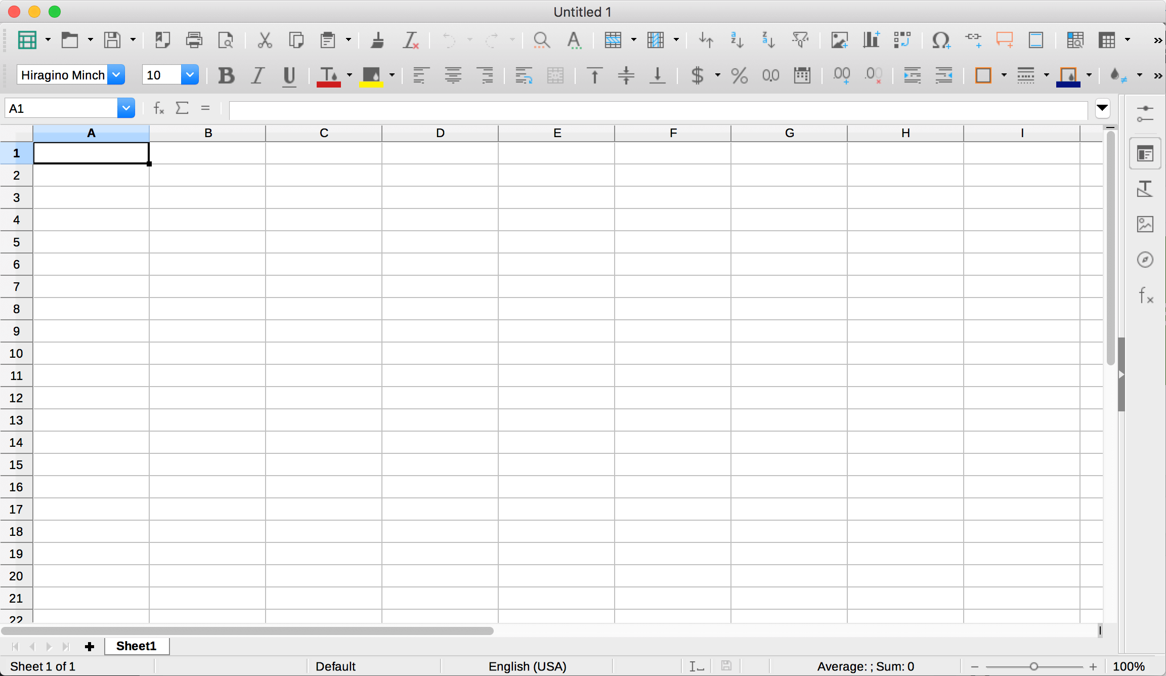 spreadsheet ダウンロード