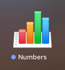Numbersの起動