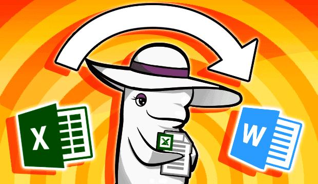 Excelで作成した文書をWord形式に変換する方法