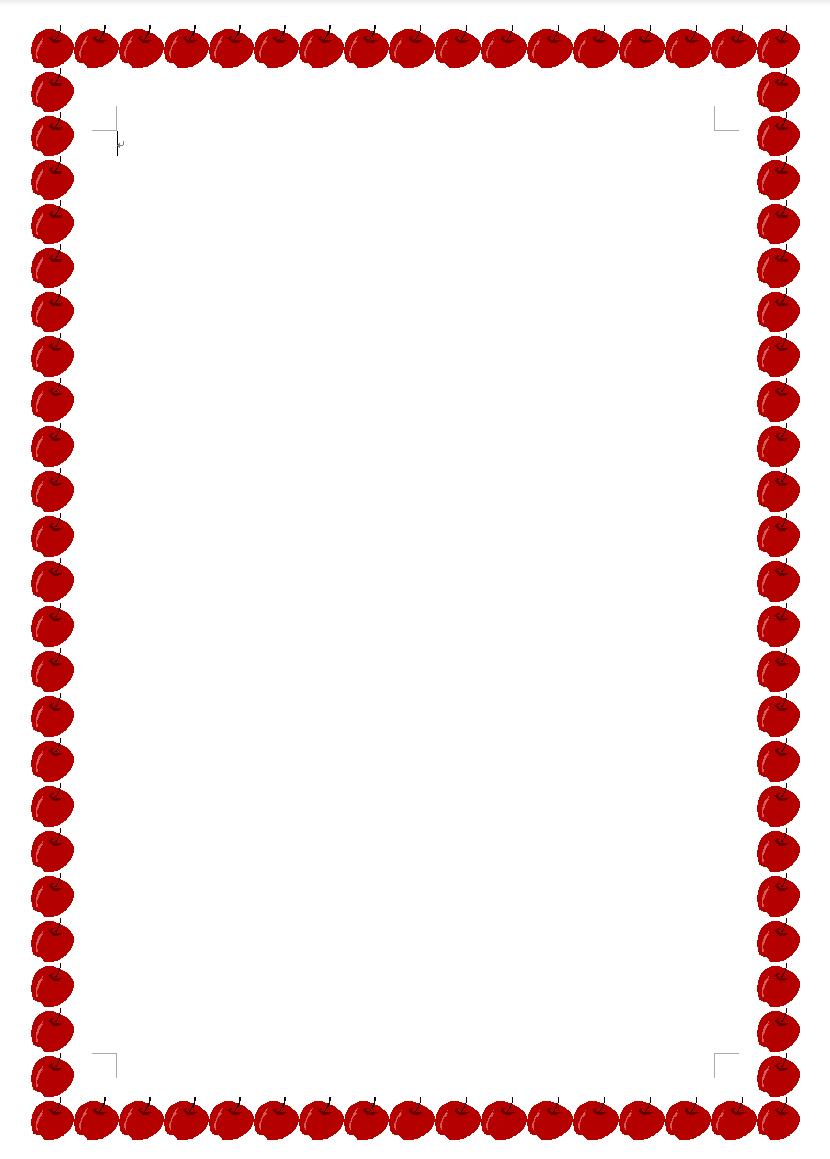 りんごの飾り枠