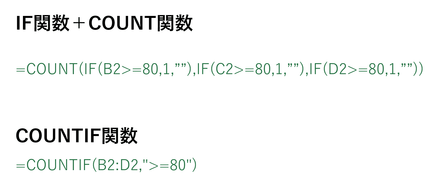 COUNTIF関数