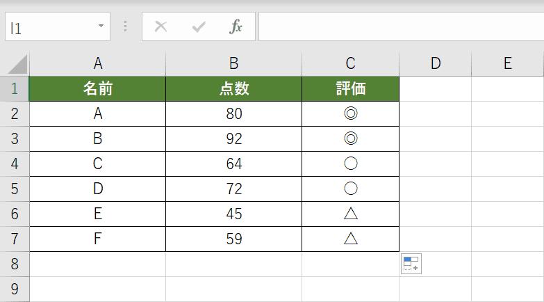 IF関数の複数条件の判定結果