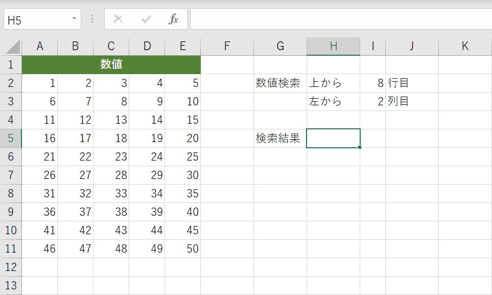 表形式のデータを用意する