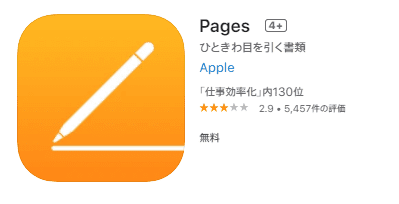 Pagesアプリ
