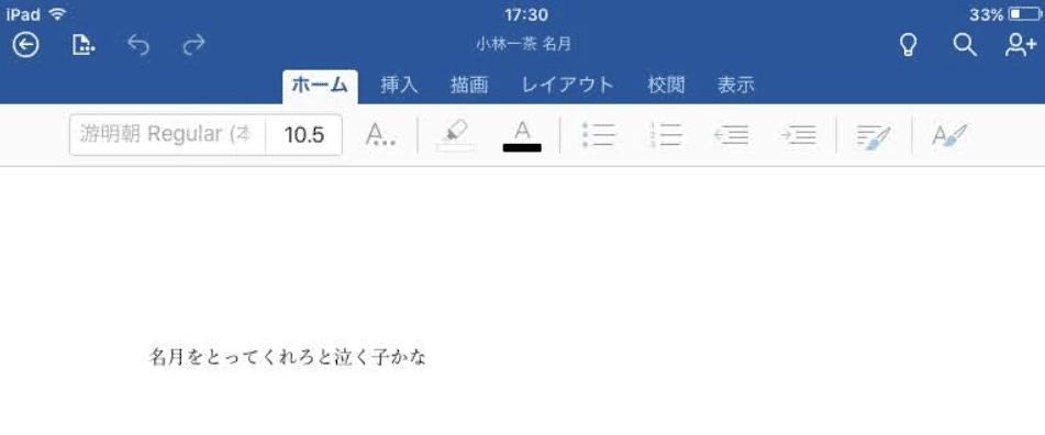 ファイルを開いた