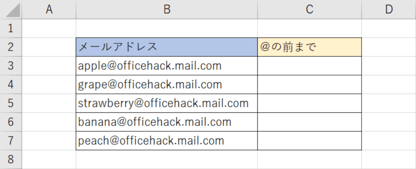 メールアドレス表