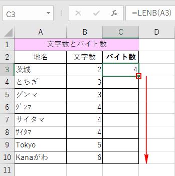 バイト数の算出