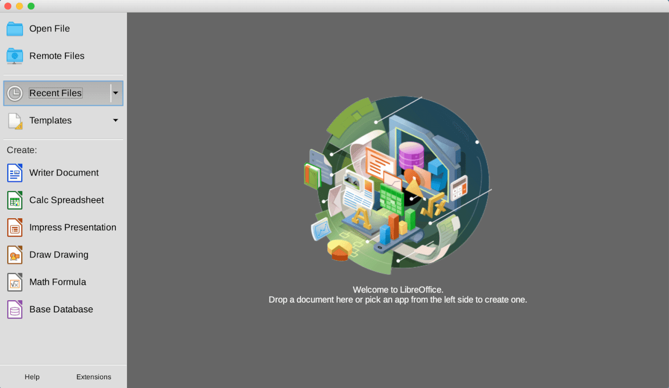 libreoffice-mac インストール完了