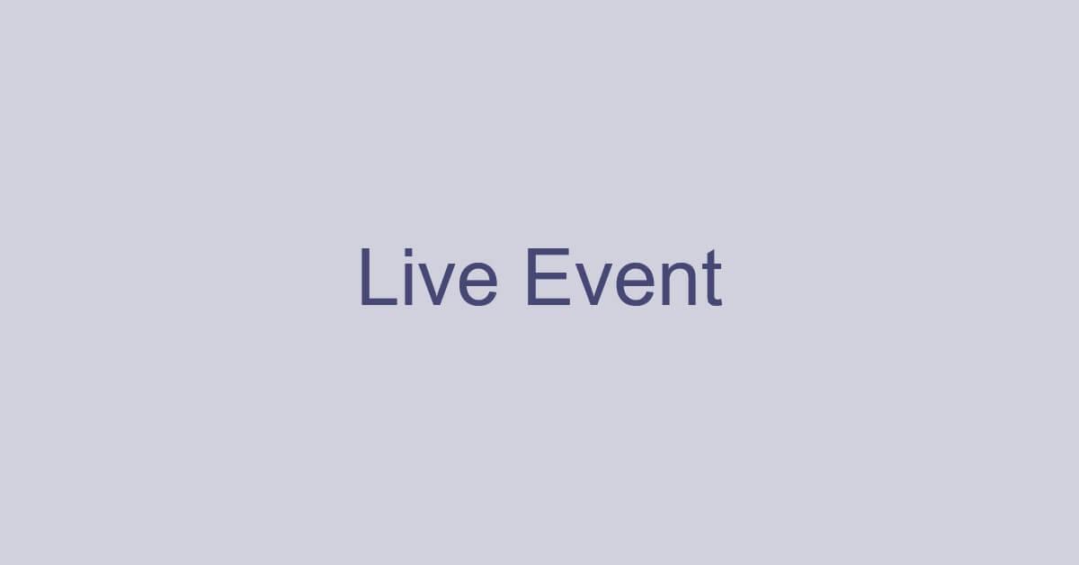 Teamsのライブ イベントとは?使い方などについて解説!