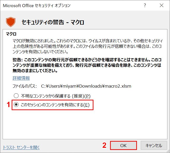 Microsoft Office セキュリティ オプション