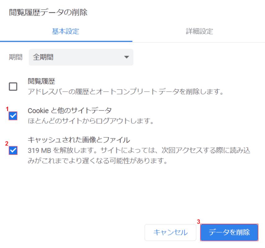 mailing-list データを削除