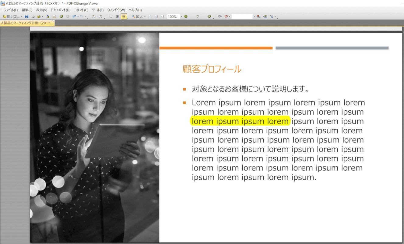 marker PDF-XChange Viewer マーカー