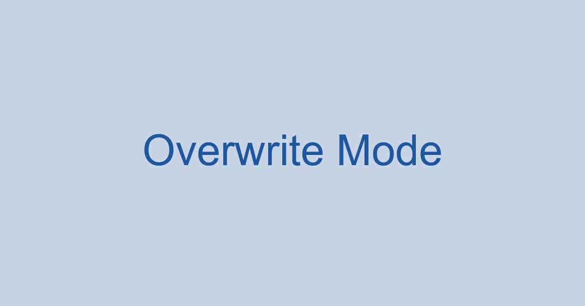 ワードの上書きモードとは?切り替えや解除できない場合の対処法