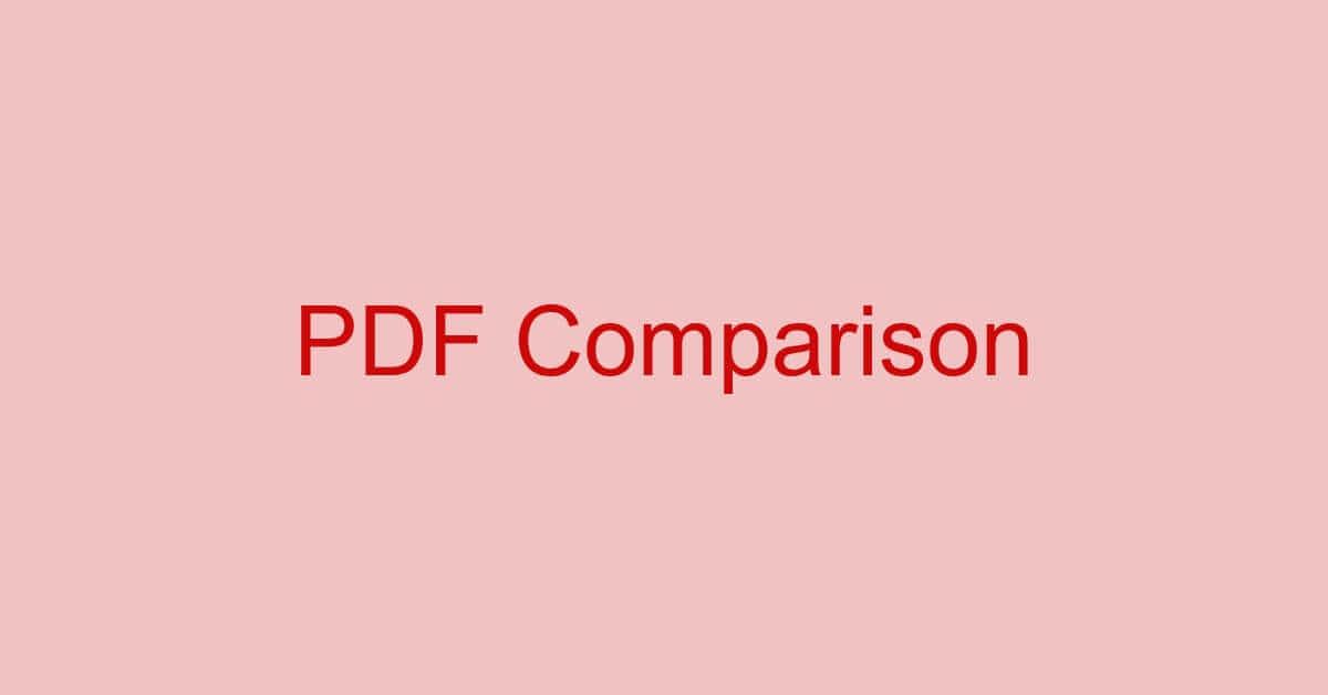 PDFの差分比較ツールのご紹介(フリーソフト含む)