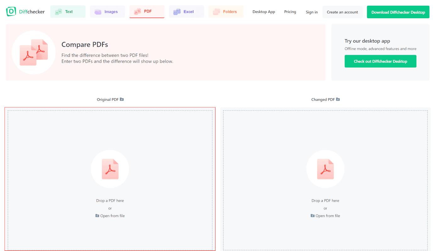 pdf-comparison Diff Checker 左枠