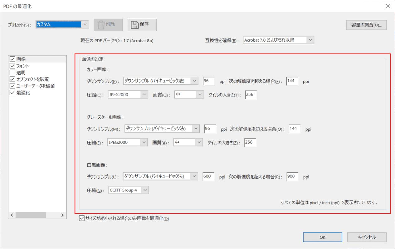 PDFの最適化