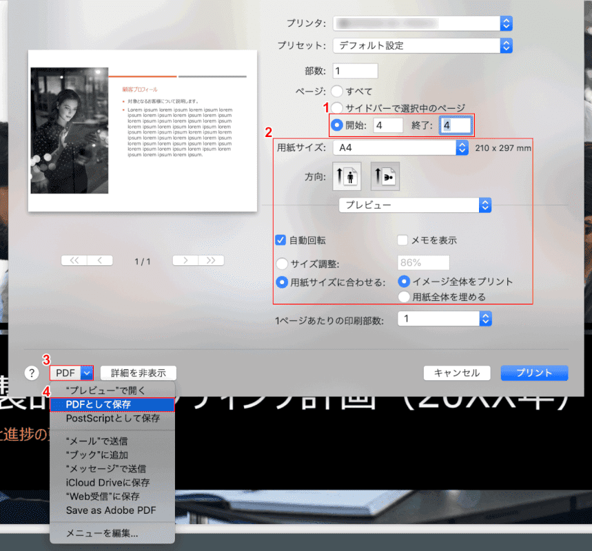 pdf-save-only-one-page mac プレビュー 設定