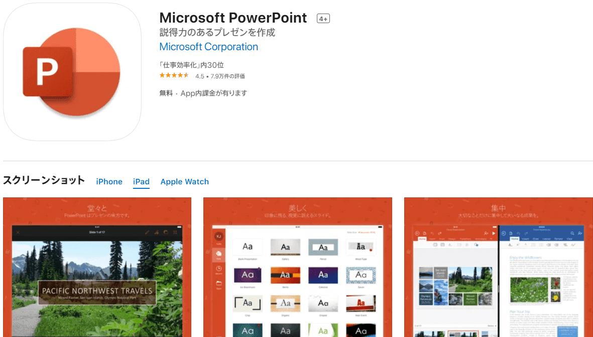 Microsoft PowerPoint iPad
