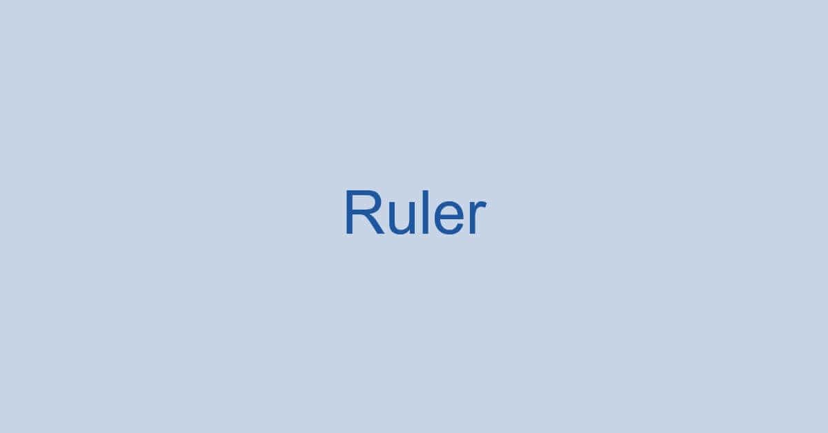 ワードのルーラーとは?ルーラーの表示方法などをご紹介