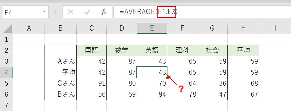 平均値が変わる