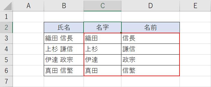 文字列の分割