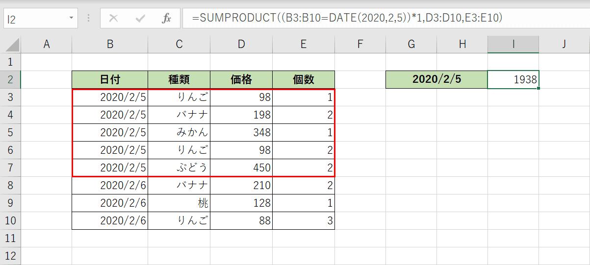 関数の結果