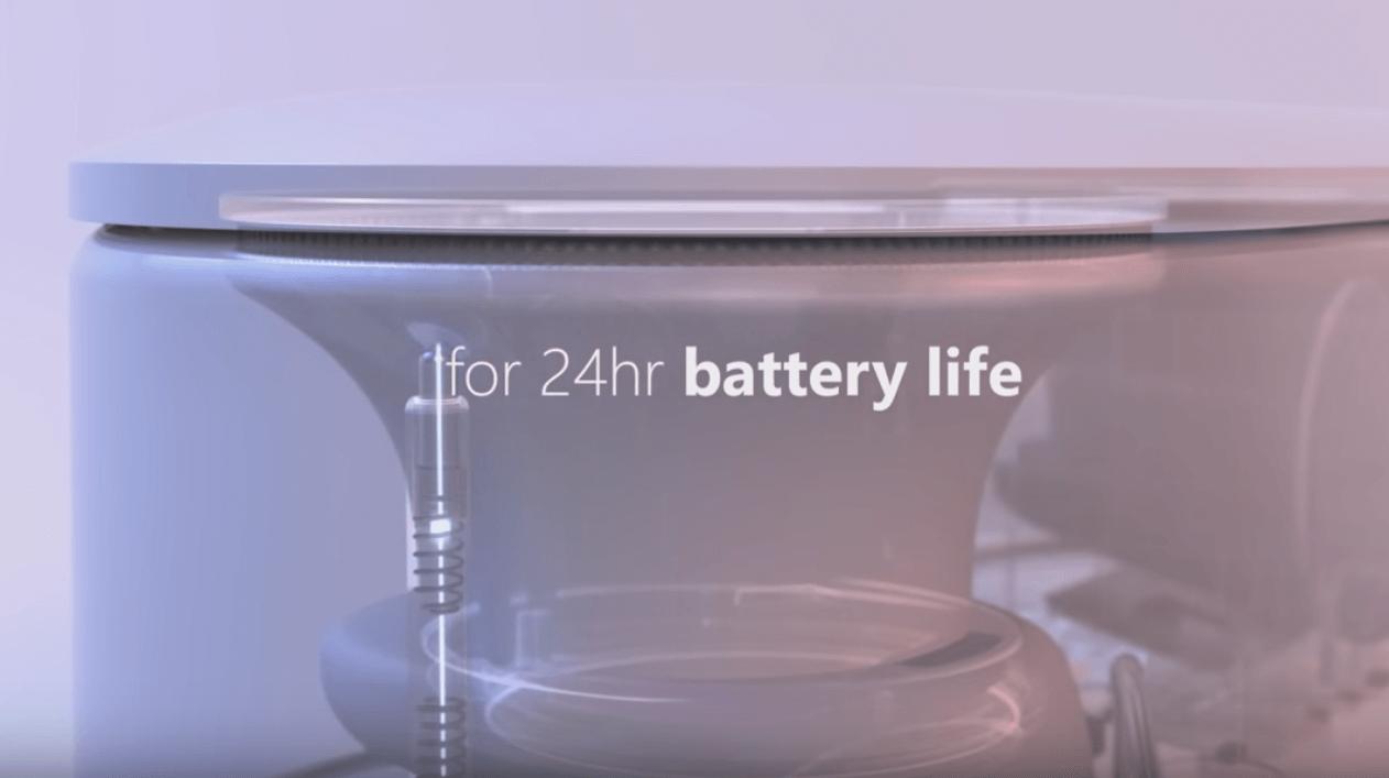 1日中使えるバッテリー