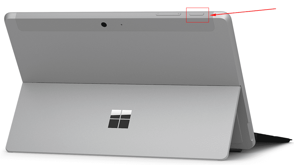 Surface Go 電源ボタン