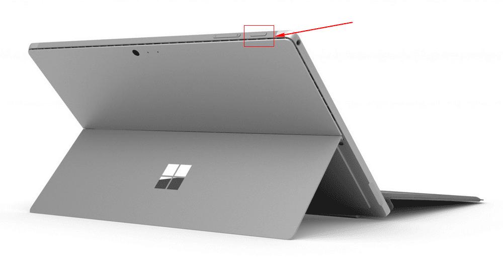 Surface Pro  6 電源ボタン