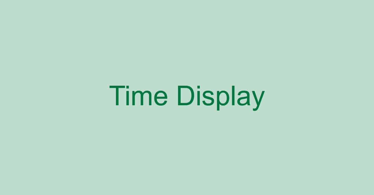 エクセルで時間の表示を行う方法(関数の使用含む)