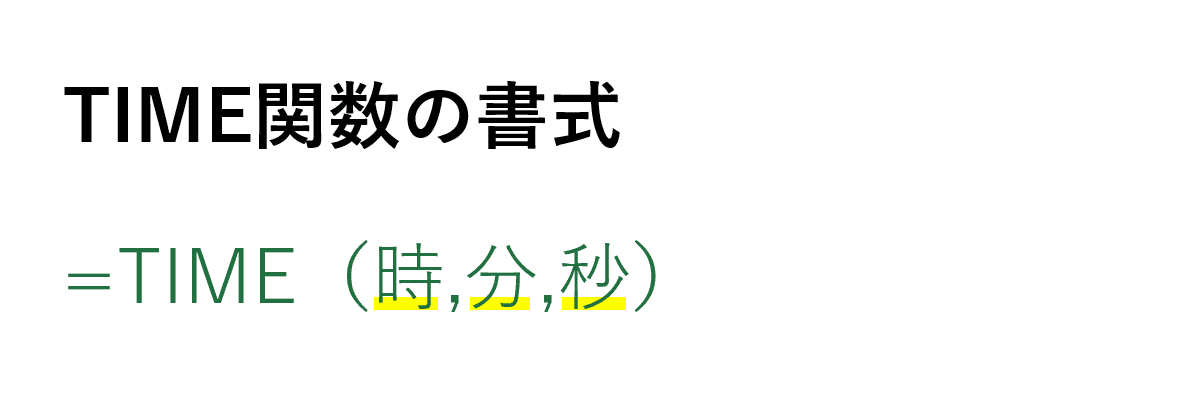 TIME関数の書式