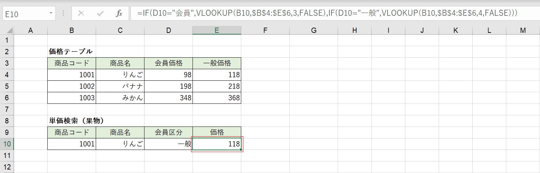 組み合わせた関数の結果