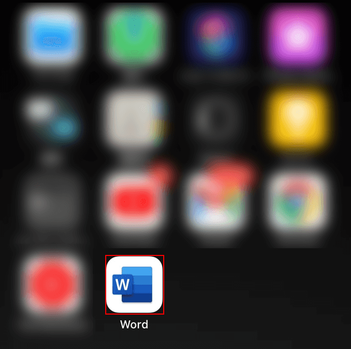 ワードアプリを選択
