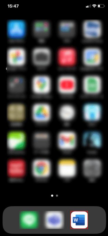 ワードアプリを長押し