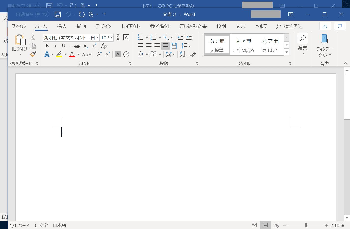 2枚のページ