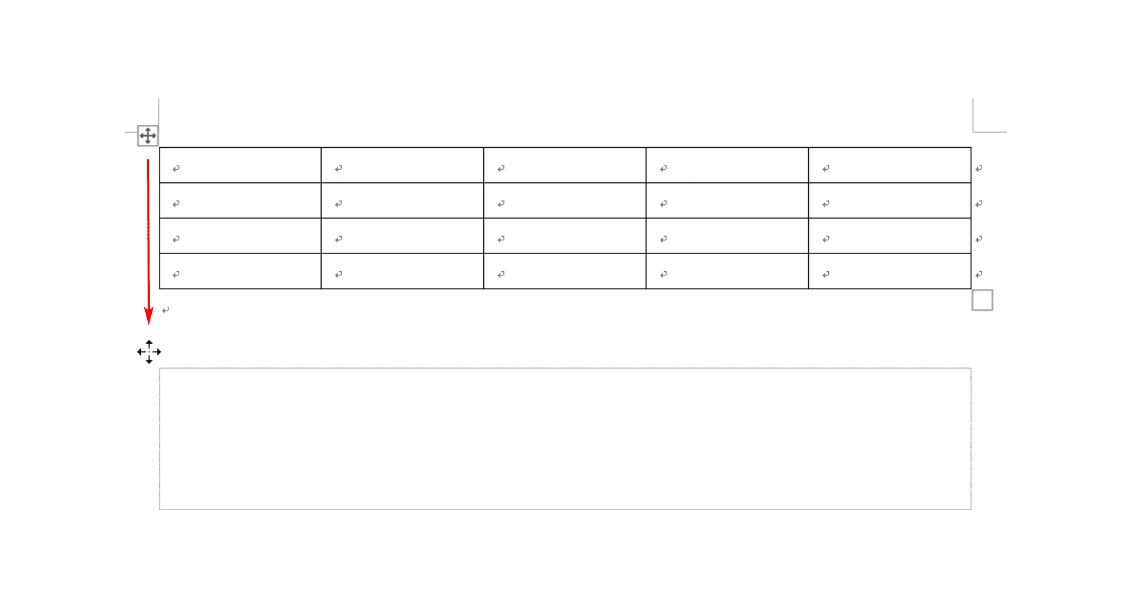 表全体の移動
