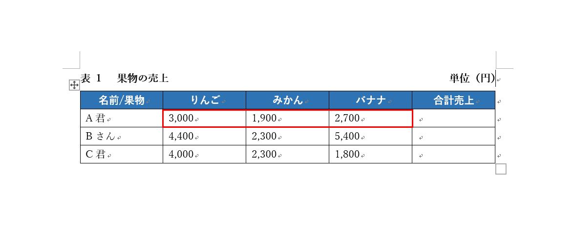 セルの計算