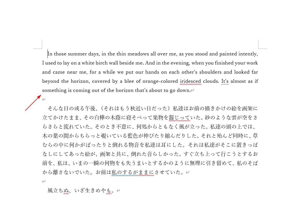 一部分のみ翻訳