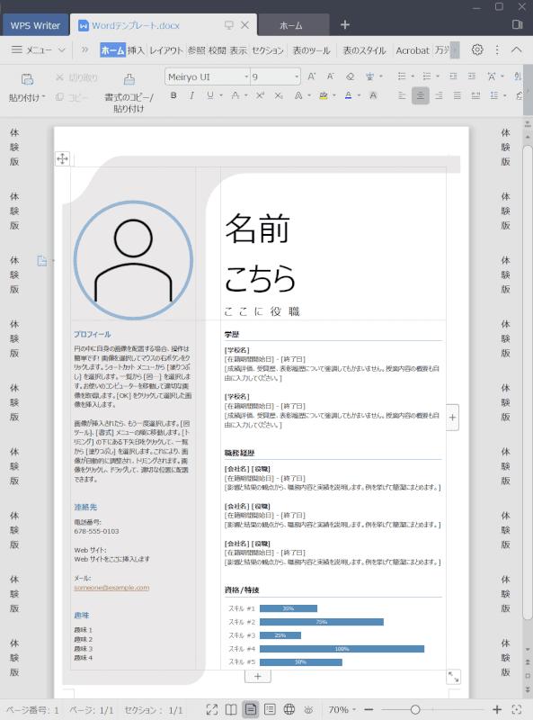 wps-office-standard-edition WordとWriter 2