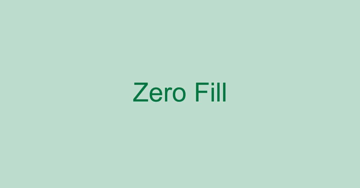 Excelで先頭を0で埋めて桁を揃える方法(右側も)